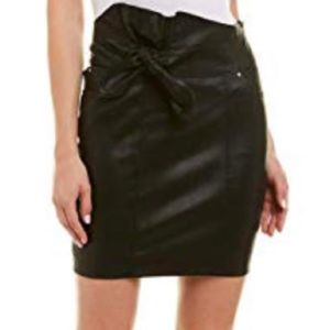 Iro Altmore black leather skirt